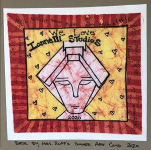 Batik Sprite Artwork by Mrs. Ruff's Summer Art Camp 2020